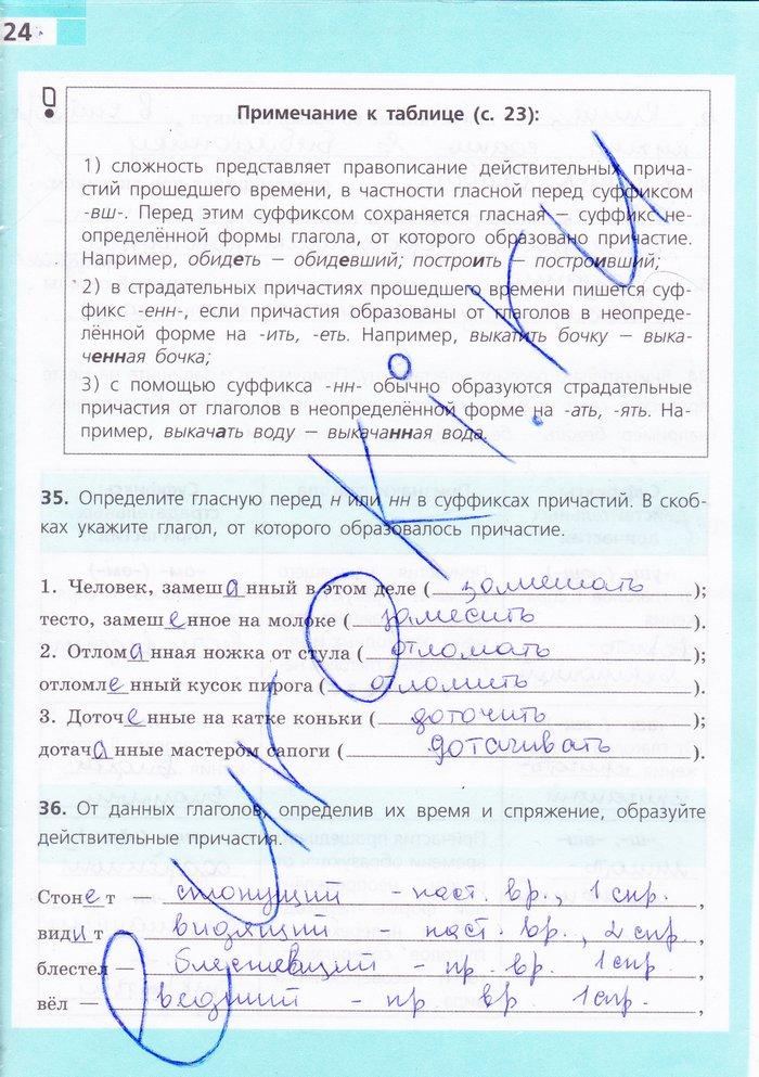 Гдз к рабочим тетрадям по русскому языку ефремова 6класс