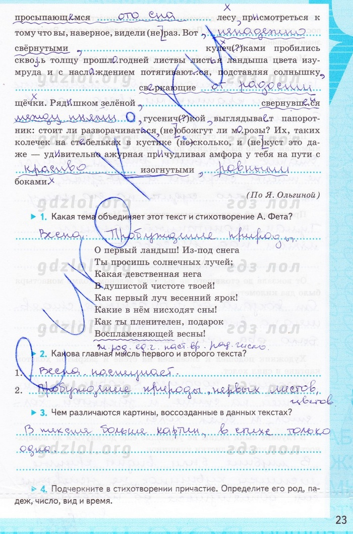 баранова тетрадь класс рабочая русский гдз 7